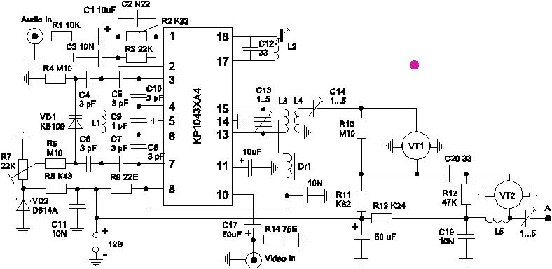 Катушки L1, L4, L5 содержат по