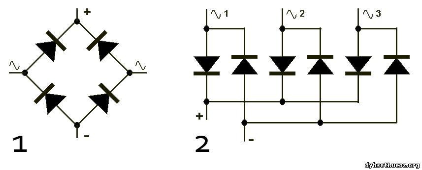 Диодный мост трехфазный схема